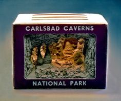 Dioramas and Clever Things: Very Amazing Vintage Souvenir Diorama - Carlsbad Caverns