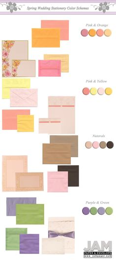 Wedding Colors for Spring: Invitation Guide
