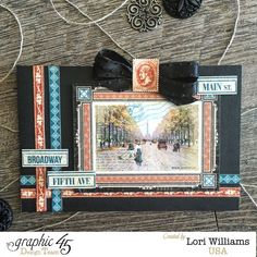 City Scapes One sheet of cardstock project by Lori Williams designing for Graphic 45 photo 6