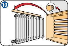 Ted's Woodworking Plans - Comment fabriquer un cache radiateur ? - Get A Lifetime Of Project Ideas & Inspiration! Step By Step Woodworking Plans Woodworking Projects Diy, Woodworking Wood, Wood Projects, Woodworking Forum, Woodworking Supplies, Diy Radiator Cover, Radiator Ideas, Home Radiators, Wie Macht Man