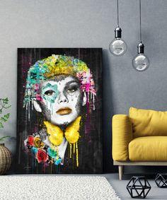 tableau-decoratif-portrait-femme-turquoise-pop-art-04 Tableau Pop Art, Female Art, Les Oeuvres, Turquoise, Painting, Modern Paintings, How To Paint, Impressionism, Contemporary