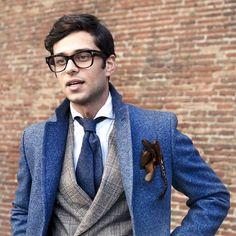 streetstylemen:  juliusmarelle:  i see you, davide.  Menswear | Streetstyle