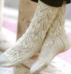 Ravelry: In the Peaceful Forest pattern by Sandy Moore Crochet Socks, Knitting Socks, Crochet Yarn, Hand Knitting, Baby Tights, Wool Socks, Knitting Accessories, Knitting Projects, Knitting Patterns