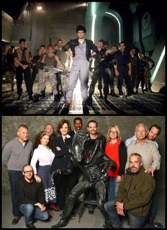The cast of Aliens then and now