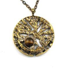 Pentti Sarpaneva for Turun Hopea, Vintage bronze pendant with tiger's eye stone, 1960's-70's. | eBay.com #Finland