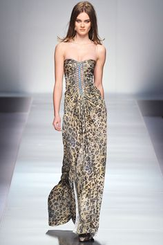 Blumarine fall 12: leopard, holographic glitter and corset lacing. My 12 year old self and I agree. We want this.