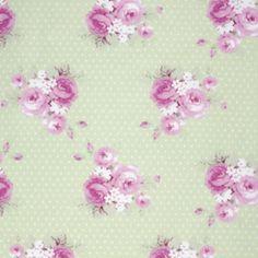 Slipper Roses, Dottie Rose Green, Tanya Whelan von Rosenstoffe Shop auf DaWanda.com