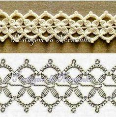 Crochet+y+dos+agujas:+5+diseños+de+puntillas+para+tejer+al+crochet