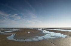 "Low tide reveals ""The Rif' near the Wadden Sea Island of Schiermonnikoog - The Netherlands - photography by Klaarlicht"
