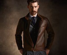 Leather Jacket by Brunello Cucinelli Fall/Winter 14/15