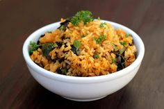Spinach Paella with Lemon - vegan & gluten free. This is the recipe that made me love paprika. The next night, I turn leftovers into fried rice.