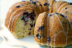 Blueberry Lemon Pound Cake - Gluten Free via La Phemme Phodie