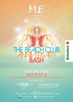The Beach Club Anniversary Bash at Me By Melia Cancun
