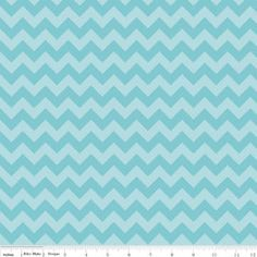 1 Yard of Small Chevron in Tonal Aqua by by SistersandQuilters, $9.90