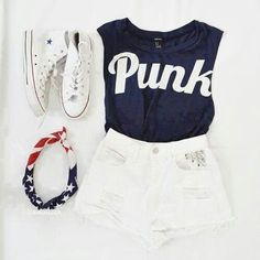 Top 15 Patriotic Spring Short Outfit Designs – Famous July 4th Holiday Teen Fashion - Homemade Ideas (6)