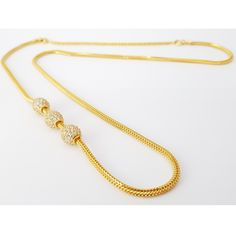 916 Gold Triple Stone Side Mopu Tali Chain, Luxury, Accessories on Carousell