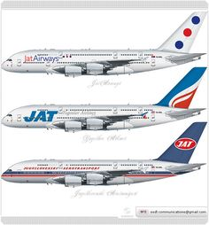 Jat Airways / Airbus A380 / Livery concept