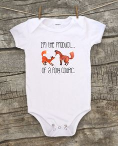 Baby Bodysuit, clothing, Toddler tshirt, Kids, Fox, Red Fox, Foxes, Foxy, Funny baby, Woodland creature, Forest animal, Girl, Boy