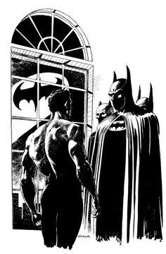 Batman by Claudio Villa Batman Painting, Batman Artwork, Batman Wallpaper, Comic Books Art, Comic Art, Book Art, Nananana Batman, Batman Poster, Marvel E Dc