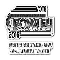 Vote Crowley - Sticker