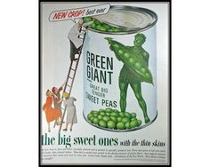 Jolly Green Giant 1950s Vintage Advertising by thevintageshop, $7.95