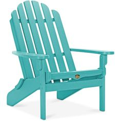 Essential Adirondack Folding Chair (9.460 UYU) ❤ liked on Polyvore featuring home, outdoors, patio furniture, outdoor chairs, turquiose, outdoor furniture, outdoors patio furniture, adirondack patio furniture, folding adirondack chair and outdoor adirondack chairs