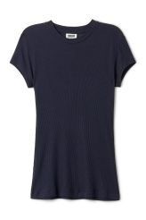 <p>The Light Rib T-shirt can easily transition from warm to cold seasons. Soft jersey with a finely ribbed finish gives a flattering tight fit, while a classic round neck and short cap sleeves add a minimalistic touch.</p><p>- Size Small measures 84 cm in chest circumference and 64,50 cm in length. The sleeve length is 11 cm.<br /></p>