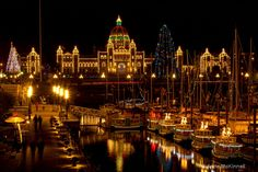Because the inner harbor in Victoria, BC is a reason to stay up all night long.