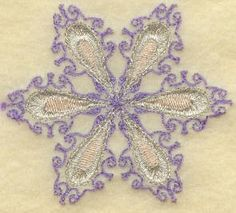 Threadsketches' set Chance of Snow - Christmas machine embroidery design, dainty snowflake
