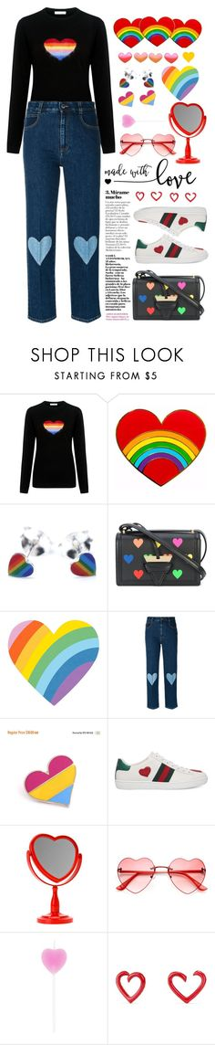 """""""made with love heart ❤💙💚💜💛"""" by licethfashion ❤ liked on Polyvore featuring Bella Freud, Loewe, STELLA McCARTNEY, Gucci and David Yurman"""