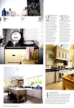 Martin Moore's bespoke English kitchen martinmoore.com Period Living December 2015