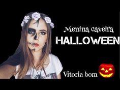 MAQUIAGEM HALLOWEEN - Menina Caveira - YouTube
