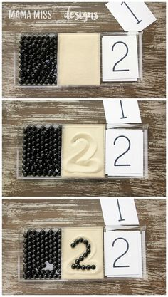 Pattern Play & Number Cards, 2 math activities to reinforce counting skills & visual discrimination, plus a literary component with the book Ten Black Dots // @mamamissblog