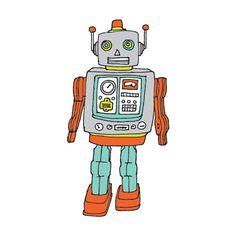 #robot #temporarytattoo #illustration