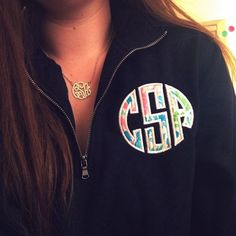 Monogrammed Necklace and Pullover