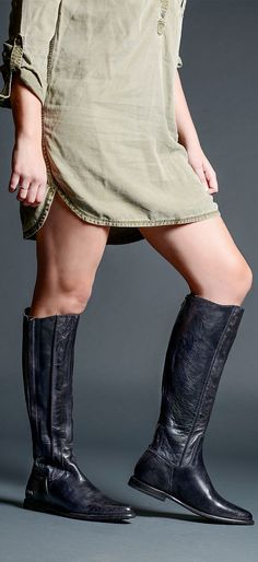 643da7de9ed Dark grey color leather boot by BEDSTU. Style with your favorite dress. Tall  Leather