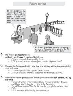 Grade 9 Grammar Lesson 15 Future perfect English Grammar Rules, English Sentences, Learn English Grammar, Learn English Words, English Phrases, English Language, English Reading, English Study, English Class