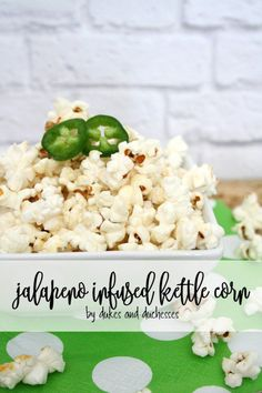 Kick popcorn up a notch with this jalapeno infused kettle corn recipe! With just a hint of spice, it'll quickly become a new favorite!