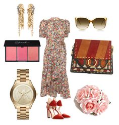 A fashion look from August 2017 featuring floral dresses, red shoes and shoulder strap purses. Browse and shop related looks. Steven Alan, Loewe, Jimmy Choo, Asos, Bohemian, Michael Kors, Shoe Bag, Polyvore, Stuff To Buy
