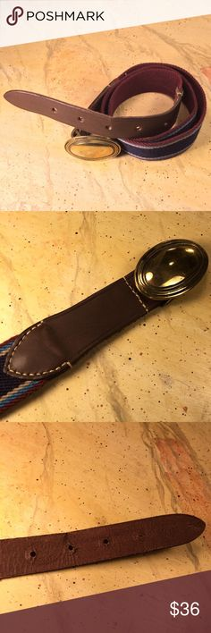 """Vintage Lacoste Belt This Vintage Lacoste Belt is in excellent condition. Men's size 34"""". Awesome purple+teal+coffee colors with big oval brass buckle. Lacoste Accessories Belts"""