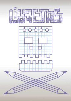 variación del logo de libretas en blanco