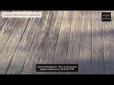 Terrasse en Béton Imprimé imitation Bois : les étapes de réalisation d'une Terrasse en Béton Imprimé - YouTube