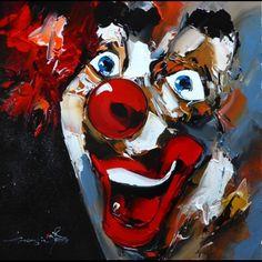 Peinture de clown - AUTOUR D'UN CADRE - Encadrement - Peinture - Restauration