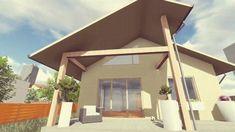 Proiect de casă parter cu calcan Bergenia de la AIA Proiect - birou de p... Bergen, Case, Minimalism, Outdoor Decor, Home Decor, Decoration Home, Room Decor, Home Interior Design, Home Decoration