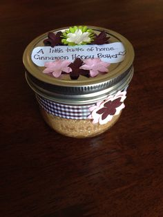 Made for my sister :) Honey And Cinnamon, Homemade, Home Made, Diy Crafts, Do It Yourself