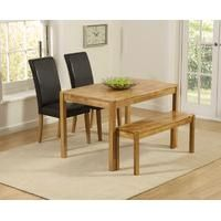 Mark Harris Promo Oak Dining Table with 2 Brown Chairs and B.- Mark Harris Promo Oak Dining Table with 2 Brown Chairs and Bench – CFS Furniture UK Mark Harris Promo Solid Oak Dining Set – with 2 Brown Chairs and Bench - Oak Dining Sets, Solid Oak Dining Table, Dining Table With Bench, Pub Table Sets, Counter Height Table, Cheap Kitchen Table Sets, Pub Set, Wooden Tables, Contemporary Style
