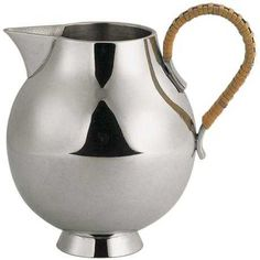 Creamer - These items fuse both Eastern and Western design traditions. #pewter #RoyalSelangor