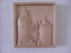 Low relief carving of Castell Coch Cardiff