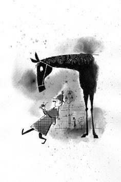 Sherlock Holmes : illustration by Satoshi Hashimoto www.dutchuncle.co.uk/satoshi-hashimoto