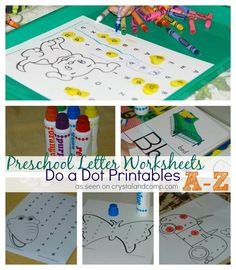 preschool letter worksheets do a dot printables a-z